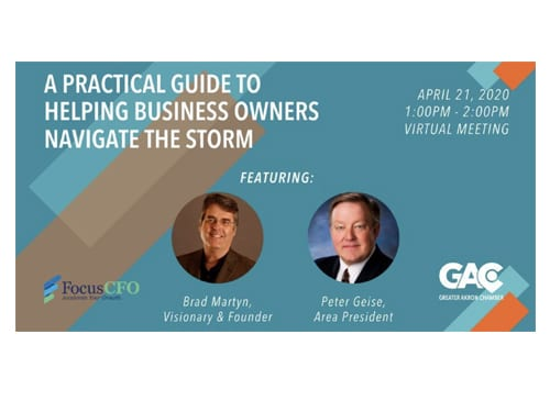 Peter Geise and Brad Martyn on webinar: A Practical Guide to Helping Business Owners Navigate the Storm